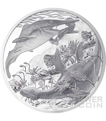 TRIASSIC Life In The Water Trias Prehistoric Life Silver Coin 20€ Euro Austria 2013