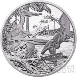 JURASSIC Life In The Air Jura Prehistoric Life Silber Münze 20€ Euro Austria 2013