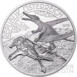GIURASSICO Jurassic Life In The Air Prehistoric Life Moneta Argento 20€ Euro Austria 2013