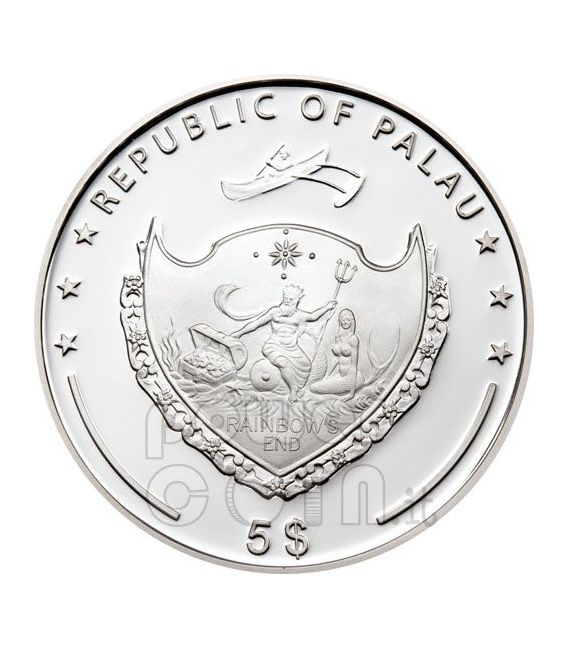 BERLIN WALL 20th Anniversary Fall Silver Coin 5$ Palau 2009