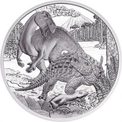 CRETACEO Cretaceus Life In The Ground Prehistoric Life Moneta Argento 20€ Euro Austria 2014
