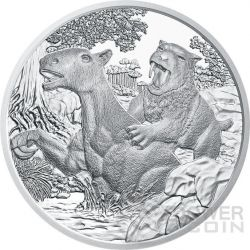 TERTIARY Life In The Ground Tertiar Prehistoric Life Silver Coin 20€ Euro Austria 2014