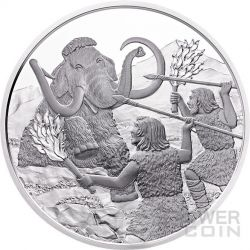 QUATERNARY Life In The Ground Quartar Prehistoric Life Moneda Plata 20€ Euro Austria 2015
