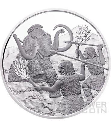 QUATERNARIO Quaternary Life In The Ground Prehistoric Life Moneta Argento 20€ Euro Austria 2015