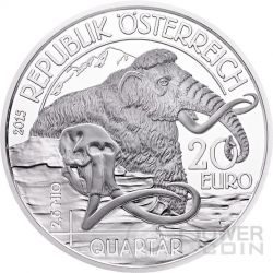 QUATERNARY Life In The Ground Quartar Prehistoric Life Silber Münze 20€ Euro Austria 2015