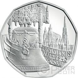 PUMMERIN BELL 300 Anniversary St Stephen Cathedral Wien Silber Münze 5€ Euro Austria 2011