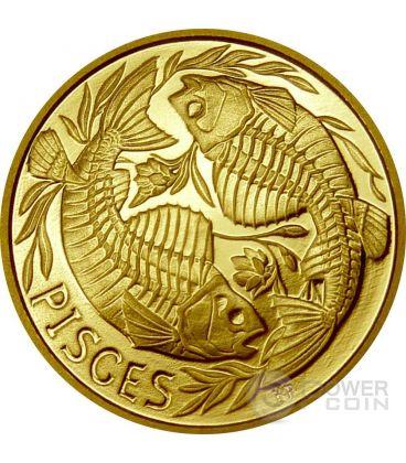 PESCI Memento Mori Zodiaco Oroscopo Moneta Oro 2015