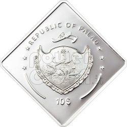 PRINCE OF WALES HMS Battleship 2 Oz Silver Coin 10$ Palau 2009
