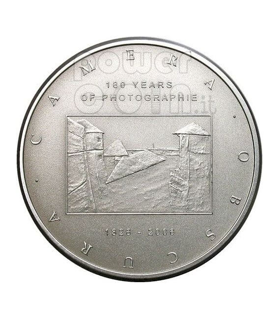 CAMERA OBSCURA 180 Years Of Photography Moneda Plata 2$ Cook Islands 2006