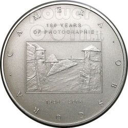 CAMERA OBSCURA 180 Years Of Photography Silver Coin 2$ Cook Islands 2006