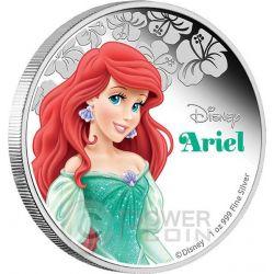 ARIEL Little Mermaid Disney Princess 1 oz Silver Proof Coin 2$ Niue 2015