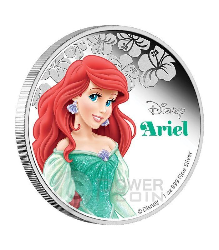 a59ad7282d8 ARIEL Little Mermaid Disney Princess 1 oz Silver Proof Coin 2$ Niue 2015 -  Power Coin