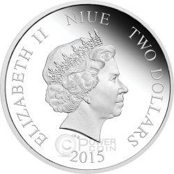 ARIEL Little Mermaid Disney Princess 1 oz Silber Proof Münze 2$ Niue 2015