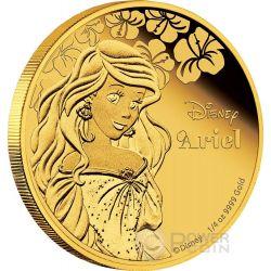 ARIEL Little Mermaid Disney Princess 1/4 oz Gold Proof Coin 25$ Niue 2015