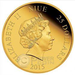 ARIEL Sirenetta Disney Princess Principessa 1/4 oz Moneta Oro 25$ Niue 2015
