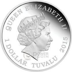 CAPTAIN JEAN LUC PICARD Star Trek Next Generation Moneda Plata 1$ Tuvalu 2015