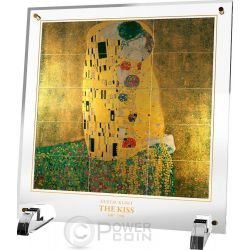 THE KISS Gustav Klimt Bacio Giants of Art Set 15 Monete Argento 5$ Niue 2015