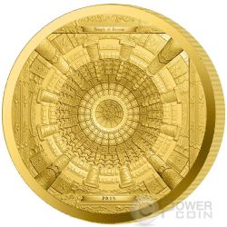TEMPLE OF HEAVEN Tempio Cielo Paradiso Pechino Moneta Oro 100$ Cook Islands 2015