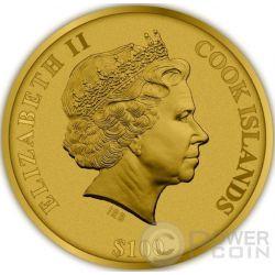 TEMPLE OF HEAVEN Beijing 4 Layer Proof Moneda Oro 100$ Cook Islands 2015