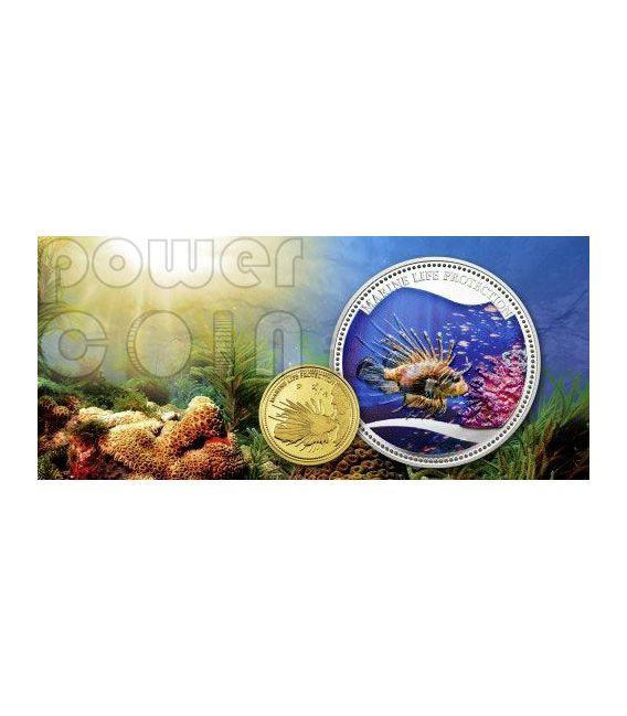 RED LIONFISH Marine Life Protection Moneda Plata 5$ Palau 2009