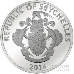 GOLD GRAM GIANT China Asia Edition Moneda Plata 25 Rupees Seychelles 2015