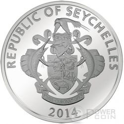 GOLD GRAM GIANT China Asia Edition Серебро Монета 25 Рупий Сейшельские Острова 2015
