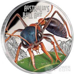 BULL ANT Australia Deadly Dangerous Silver Coin 1$ Tuvalu 2015