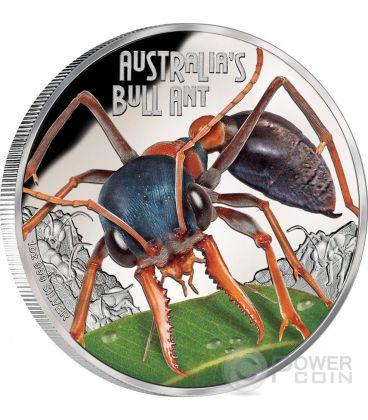 FORMICA BULLDOG Australia Deadly Dangerous Moneta Argento 1$ Tuvalu 2015