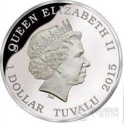 BULL ANT Australia Deadly Dangerous Moneda Plata 1$ Tuvalu 2015