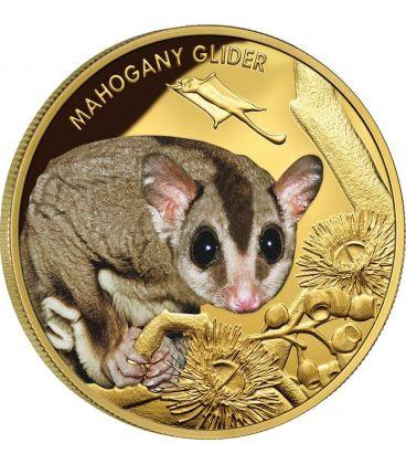 SCOIATTOLO VOLANTE Mahogany Glider Moneta Oro 100$ Niue 2015