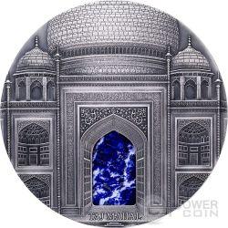 TAJ MAHAL Mineral Art Lapis Lazuli High Relief 1 Kilo Kg Silver Coin 100$ Fiji 2014