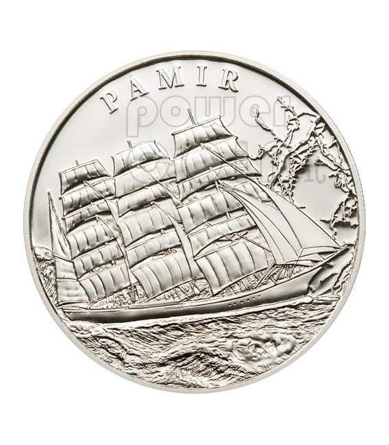 PAMIR Ship Moneda Plata Proof 5$ Palau 2009
