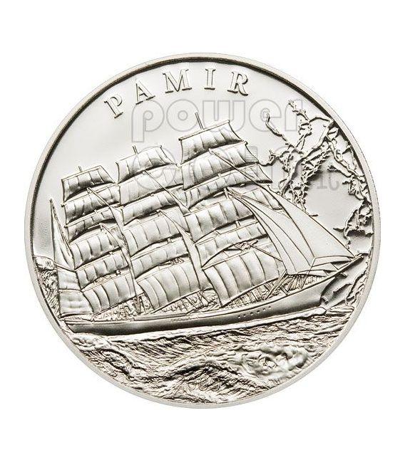 PAMIR Ship Silber Münze Proof 5$ Palau 2009