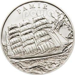 PAMIR Ship Silver Coin Proof 5$ Palau 2009
