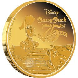 DAISY DUCK 75 Anniversary Disney Gold Proof Coin 25$ Niue 2015