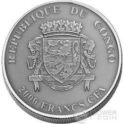 LEMUR Natures Eyes 2 Oz Silber Münze 2000 Francs Congo 2015