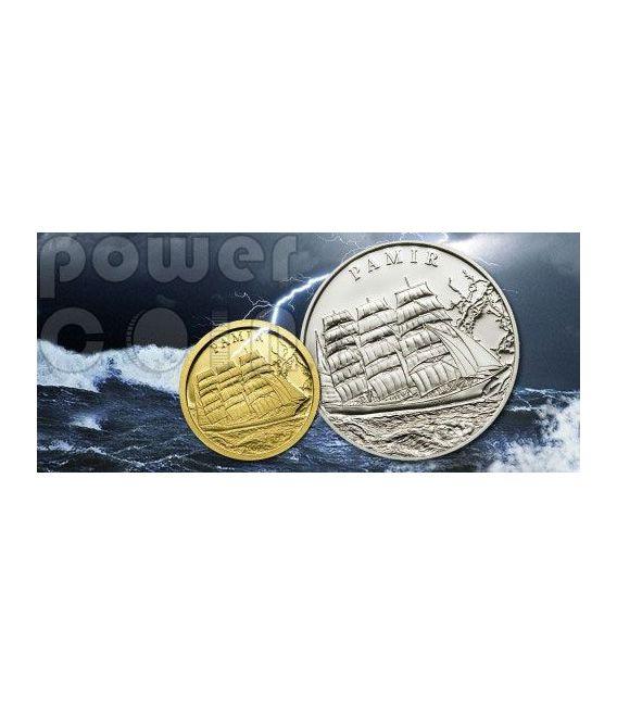 PAMIR Nave Brigantino Moneta Argento Proof 5$ Palau 2009
