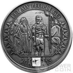 MOSES Exodus Bible Tales Nano Chip 1 Oz Серебро Монета 1000 Франков Буркина-Фасо 2015
