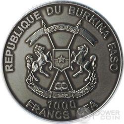 MOSES Exodus Bible Tales Nano Chip 1 Oz Moneda Plata 1000 Francs Burkina Faso 2015