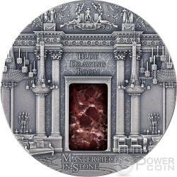 BLUE DRAWING ROOM Masterpieces In Stone Buckingham Palace 3 Oz Silver Coin 10$ Fiji 2014