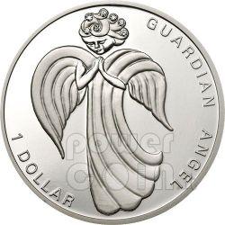 GUARDIAN ANGEL Silber Münze Swarovski 1$ Nauru 2009