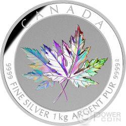 MAPLE LEAF FOREVER Hologram 1 Kg Kilo Silber Münze 250$ Canada 2015