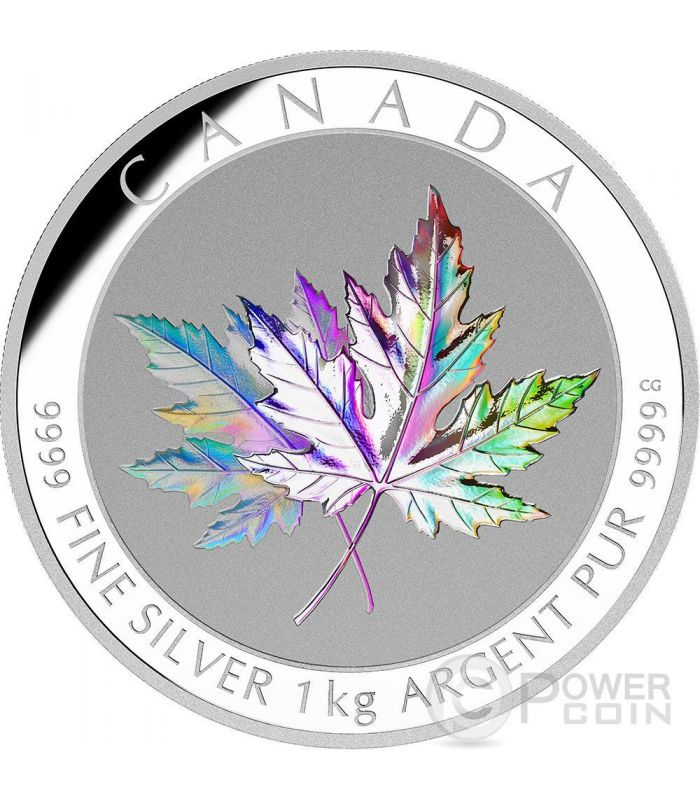 Maple Leaf Forever Hologram 1 Kg Kilo Silver Coin 250