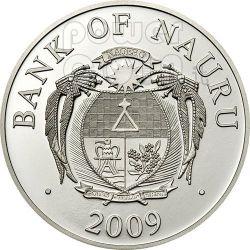 GUARDIAN ANGEL Moneda Plata Swarovski 1$ Nauru 2009