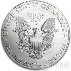 AMERICAN PATRIOTIC Silver Eagle Ologramma Walking Liberty Bandiera Moneta Argento 1$ USA 2014