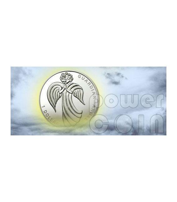 ANGELO CUSTODE Moneta Argento Swarovski 1$ Nauru 2009