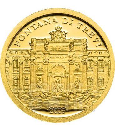 FONTANA DI TREVI Roma Moneta Oro 1$ Palau 2009