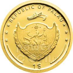 TREVI FOUNTAIN Rome Moneda Oro 1$ Palau 2009