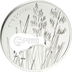 KIWI SILHOUETTE Laser Cut Silver Proof Coin 1$ New Zealand 2015