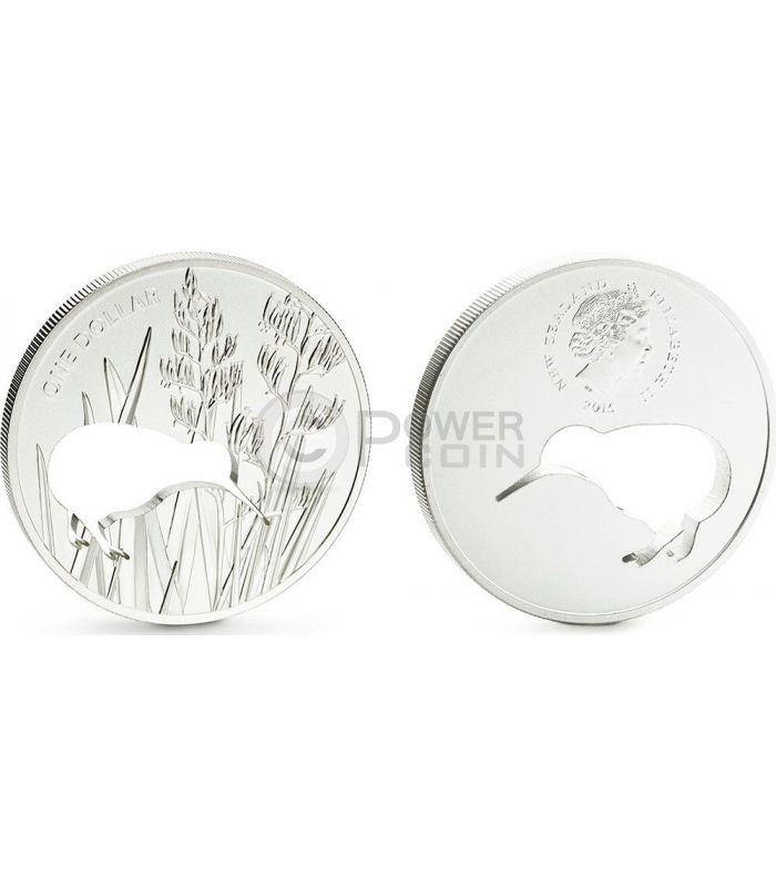 Kiwi Silhouette Laser Cut Silver Proof Coin 1 New Zealand